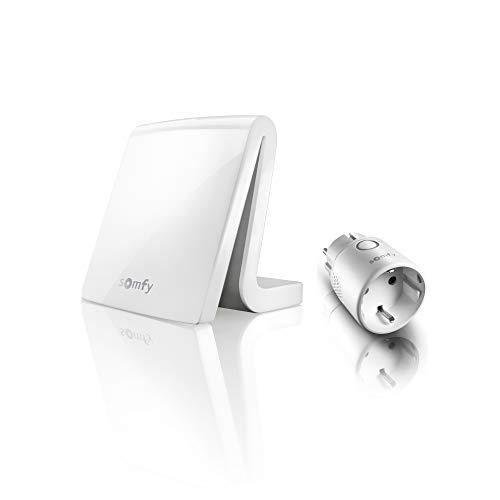 Somfy - 1870903 - Tahoma Box und Plug io - Hausautomatisierung - Typ F Stecker - Kompatibel mit Google Home und Amazon Alexa