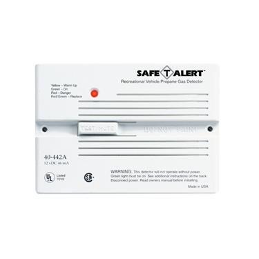 Safe T Alert RV Trailer Camper Lp Gas Alarm Flush Mount White 40-442-P-WT