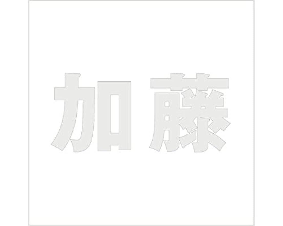非難不定バルク切文字 カッティングシート ゴシック文字 ???????? 100×100mm表札板用 加藤 オーダーメイド 納期8営業日