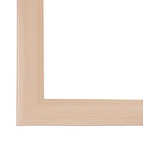 Bilderrahmen OLIMP 100x150 oder 150x100 cm in AHORN normal Kunstglas und Rückwand, 35 mm breite MDF-Leiste mit Dekor Folienummantelung