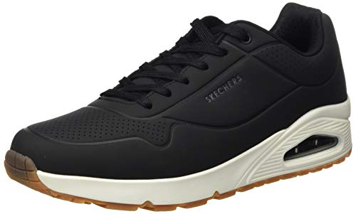 Skechers Men's Uno - Stand on Air Trainers, Black (Black Durabuck/Trim Blk), 10 UK (45 EU)
