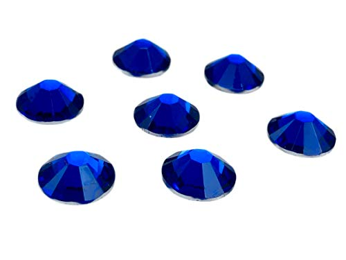 100Unidades EIMASS® resina espalda plana, redonda, No HotFix, brillantes cristales, gemas, tamaño grande, color Azul, talla