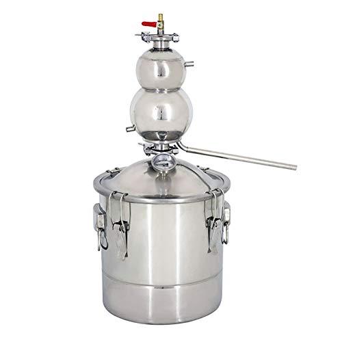 HXB Máquina De Vinificación Doméstica En Forma De Calabaza De 30 L Calentamiento De Llama Abierta Máquina Pequeña De Rocío Puro Adecuado para Destilación De Vino Blanco Máquina De Vaporización