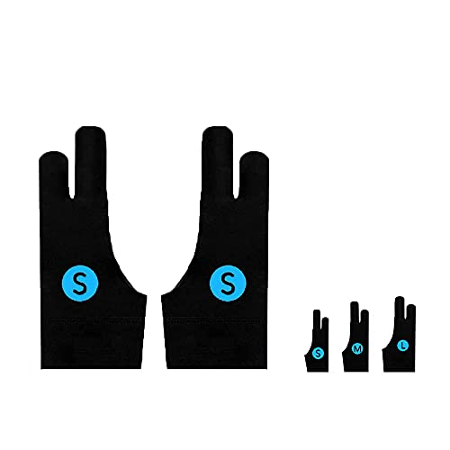 Auskang Zeichenhandschuh [2 Stück] Antifouling-Handschuh, Anti Misstouch, Elastische Handschuhe für Handzeichnung, Drawing Tablet, Grafiktablett und Andere, für sowohl rechte als auch Linke Hand (S)