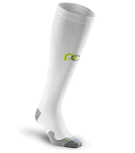 PRO Compression: Marathon (Full-Length, Over-the-Calf) Compression Socks, 1 Pair - 2M0002X, XS, Blanco