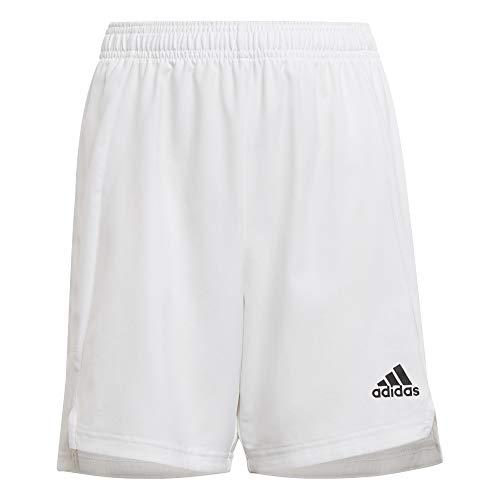 adidas boys Condivo 21 Shorts White/White Large