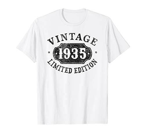 Image of the 85 Years Old 85th Birthday Gift Idea Vintage 1935 Limited T-Shirt