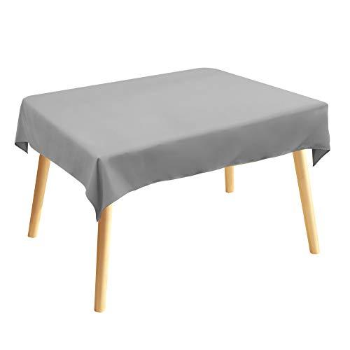Tischdecke, Rechteckige Tischtuch, 120 × 140cm, Grau, 100% Polyesterfaser, Einfarbig, Pflegeleicht Waschbar, Tischläufer Tischwäsche Gastronomie Kollektion Vivid