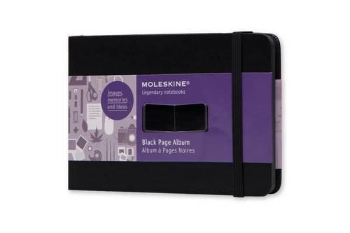 Moleskine FO1A2 Album mit schwarzen Seiten Pocket, Hardcover schwarz
