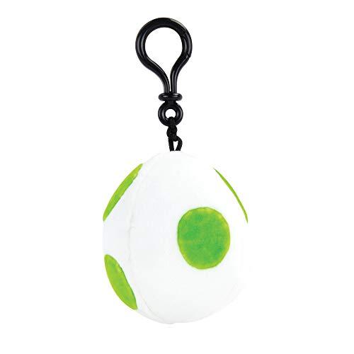 Nintendo Mario Kart Mocchi Mocchi Plüsch Spielzeug Schlüssel-Anhänger Yoshi Egg Ei / Mitgebsel für Kinder-Geburtstage Ranzen Rucksack Tasche 10 cm - grün Weiss