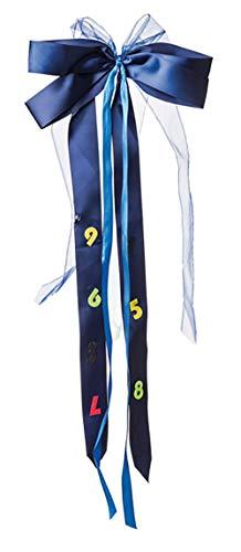 Nestler 2034 - Schultütenschleifen ABC, ca. 50 x 23 cm, passend für Mädchen- und Jungen Schultüten, fertig gebunden