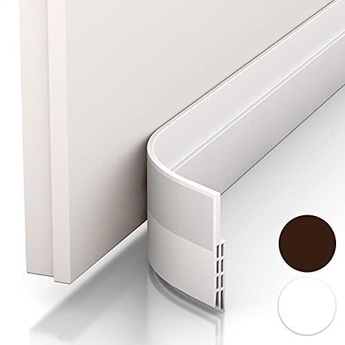 Vellure® Türdichtung Zugluftstopper - NEU Premium Türdichtung selbstklebend (Schnell & einfach angebracht) Ideal auch als Schallschutz, Kälteschutz & Haustür Dichtung (1 x Weiß)