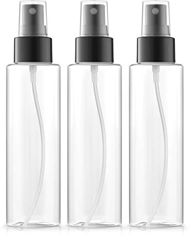 Bar5F Fine Mist Spray Bottles 4 oz, BPA-FREE, PETE1 Plastic, Pack of 3