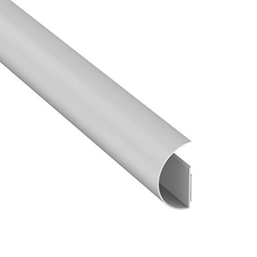 Maxi CableTraC de D-Line, Organizador de cables de TV, Versátil canaleta para cableado, Tapacables - 50 mm (An.) x 25 mm (Al.) x 1 m (L) - Blanco