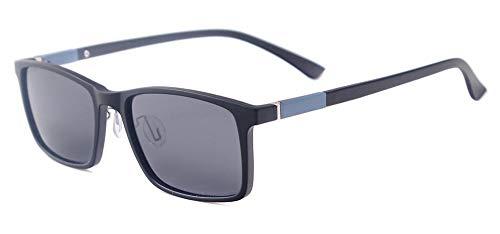 ZAQXSW Männer Frauen TR90 Leichte Rectangle Fashion Driving polarisierte Prescription Sonnenbrillen for Myopie Gleitsichtgläser, Objektiv-Farbe (Color : C)