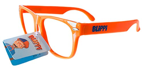 Blippi Glasses for Children - Orange Nerd Glasses, Orange, Size Toddler/Child