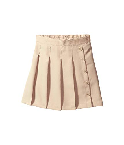 Nautica Girls' Big School Uniform Pleated Scooter, Khaki, 14