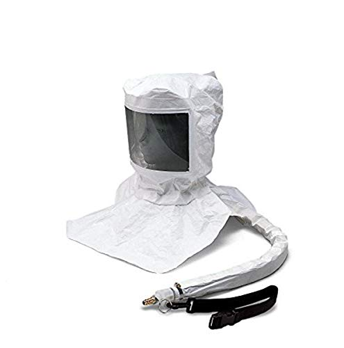 Allegro Industries 9910-D Maintenance Free Tyvek Hood CF SAR Assembly with Suspension and LP Flow Adapter with OBAC Fitting, Standard