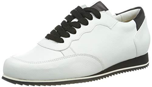 Hassia Damen Piacenza, Weite G Sneaker, Weiß (Weiss/Schwarz 0201), 41 EU