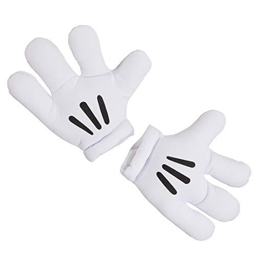NET TOYS Mickey Handschuhe Maus Riesenhände Minnie Maus Riesenhandschuhe Paar Jumbo Handschuh Comichände Comic Figur Körperteile Karnevalskostüme Accessoires