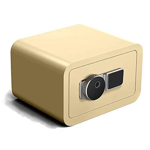 CLING Depósito electrónico Seguro hogar pequeño Mini Huella Digital contraseña Oficina guardarropa Invisible de Acero mesita de Noche contraseña electrónica 20 cm