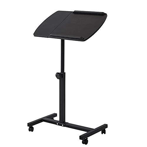 ZXL Draagbare Verstelbare Laptop Bureau Riser Houder Slaapbank Bed Computer Tafeltafel, Zwart