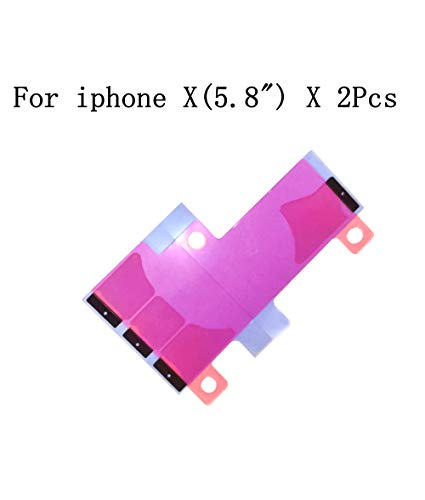 Battery Glue Adhesive Strips Replacement Part for iPhone X (5.8'') 2 pcs/lot