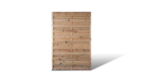 MEIN GARTEN VERSAND Sichtschutz-Zaun im Maß 120 x 180 cm (Breite x Höhe) aus Kiefer/Fichte Holz, druckimprägniert, Lamellen geriffelt