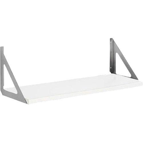Dolle Shelving Lite Regal-Set, 81,3 x 25,4 cm, Weiß, mit zwei Tri-Halterungen