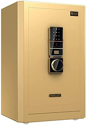 ZXNRTU Cajas de seguridad para el hogar, Caja de seguridad digital electrónica, biométrico de huellas dactilares Inicio de acero de seguridad, 40X36X60Cm, pantalla LED, Inicio de acero de seguridad, f