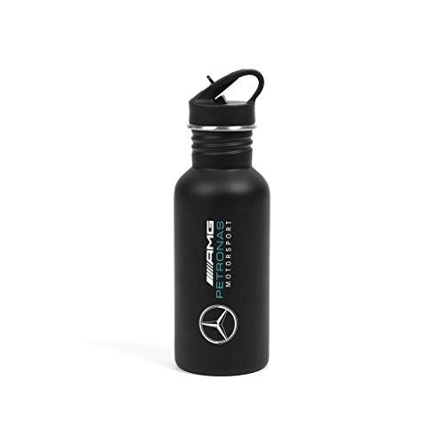 Mercedes, borraccia AMG Petronas 2018, in acciaio nero, senza BPA