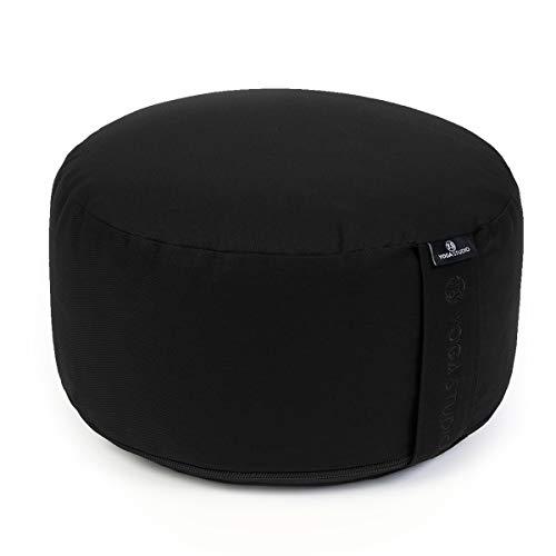 Yoga Studio Cylinder Meditation Cushion - Large (Black)