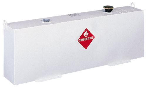 Jobox Delta 486000 37 Gallon White Vertical (Fuel-N-Tool Ready) Steel Liquid Transfer Tank for Trucks