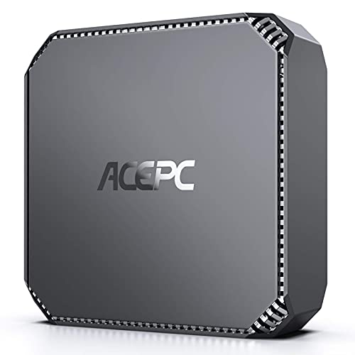 ACEPC Mini PC Inter Celeron J3455 Prozessor, 8GB RAM/128GB ROM Window 10 Pro Mini Ordenadores de sobremesa, Dual Band WiFi 2.4G/5G,4K HD, Gigabit Ethernet,2.5 Pulgadas SATA HDD/SSD…