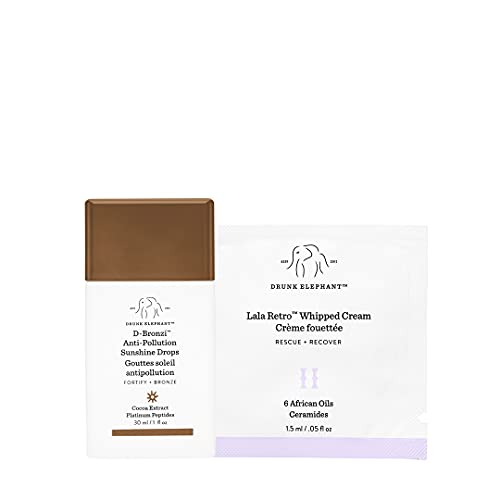 Drunk Elephant D-Bronzi Antipollution Sunshine Serum. Replenishing Face and Body Bronzing Serum for Fine Lines and Wrinkles (1 Ounce)