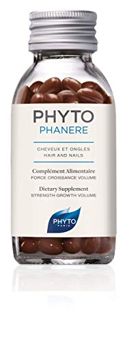 Phyto Phytophanere Integratore Alimentare Naturale Fortificante per Capelli e Unghie, Adatto a Tutti i Tipi di Capelli, Confezione da 90 Capsule