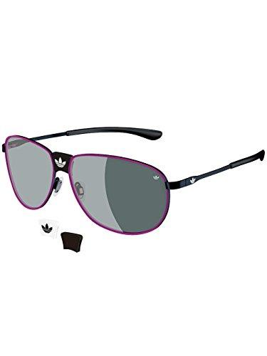 adidas Originals Gafas de sol para hombre, color negro y rosa