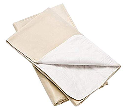 Platinum Care Pads™ Washable Beige Large Standard Reusable Bed Pads/Hospital Underpads, for use with Incontinence and Pets Size 34x36 in, Pack of 4