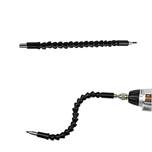 300 mm Flexible 6.35mm (1/4) Soporte de bits de la extensión del bit de la broca del eje Hex con la herramienta eléctrica del taladro eléctrico del eje del eje de conexión magnética (Size : Black)