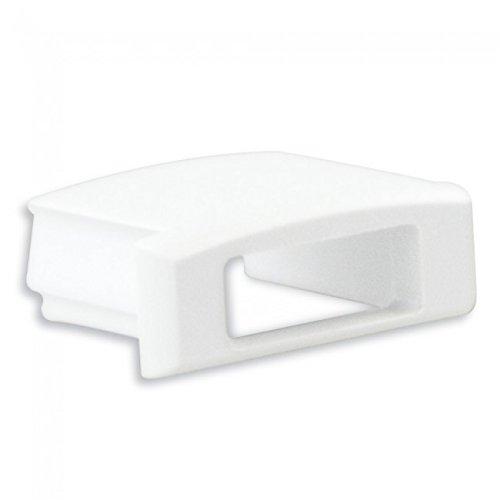 LED Profil Anser 1/2 Meter Opal Alu Eloxiert/Weiss/schwarz (Endkappe Weiß mit Kabelausgang)