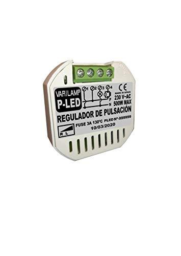 Varilamp P-LED Regulador a pulsadores para principio de fase 500w max