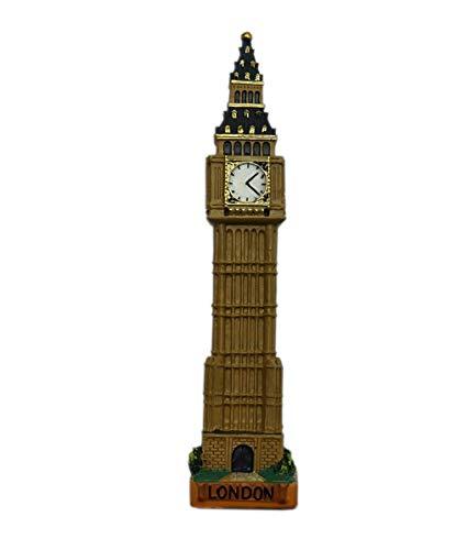 GODRI Londres Big Ben Reloj Figura decoración de Escritorio Modelo Estatua hito Recuerdo Regalo