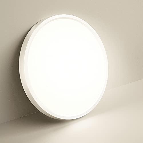 Lámpara de Techo LED Salon Moderna 4000K 1600LM Lamparas de dormitorio de Techo Habitacion Blanco Natural 18W Ø23CM Plafon LED Cocina Estar Balcón Pasillo
