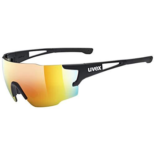uvex Unisex– Erwachsene, sportstyle 804 Sportbrille, black mat/red, one size