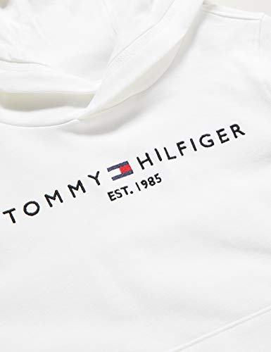 Tommy Hilfiger Boy's Essential Hoodie, White (White 658-170 YBR), Years (Size:10)