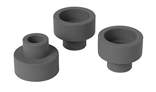 Blomus Teelichthalter-65782 Kerzenhalter, Gunmetal, H 4,5 cm, ø 5,5 cm