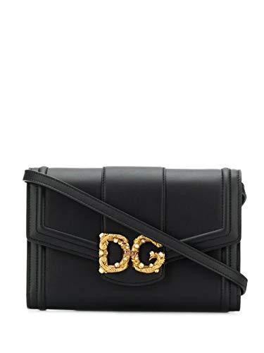 DOLCE E GABBANA Luxury Fashion Damen BI1272AK29580999 Schwarz Leder Schultertasche | Frühling Sommer 20