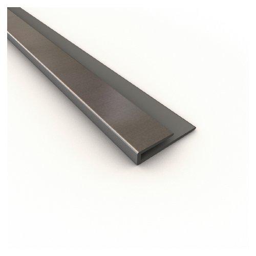 Backsplash Edge J Trim Brushed Aluminum Missouri