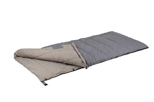 Bo-Camp Urban Outdoor Deckenschlafsack Bronx Perkal Baumwolle Schlafsack Lang XL bis -10°C Grau