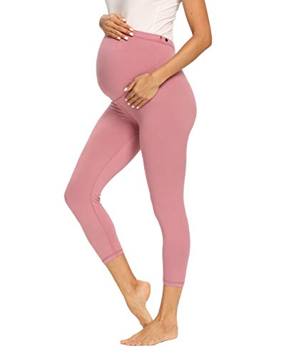 Product Image of the Foucome Women's Maternity Capri Leggings Over The Belly Pregnancy Active Workout...